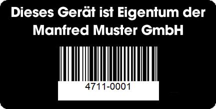 Inventaretiketten mit QR-Code
