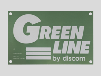 Typenschild, geätzt, grün eloxiert